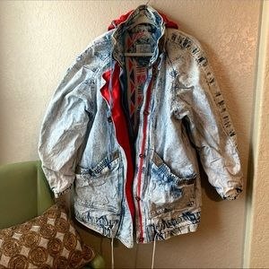 Vintage 90's Acid Wash oversized Jean Jacket